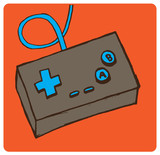 Old School Video Game Controller Vector Illustration