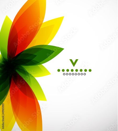 Colorful abstract flower design template