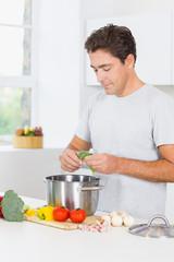 Man making dinner