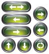 Green Metallic Arrow Buttons