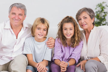 Portrait of children and their grandparents