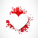 paper heart positive concept