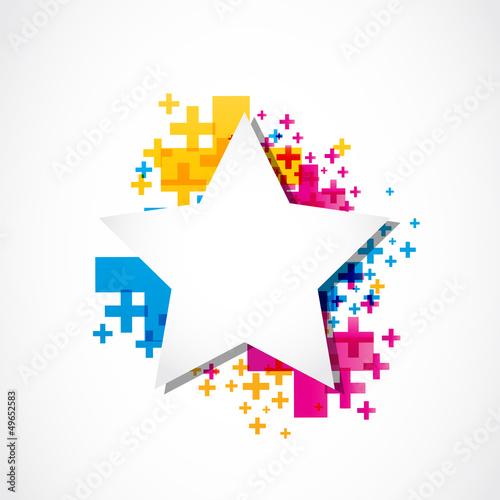 Star sticker positive design