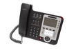 .Black IP phone close up isolated