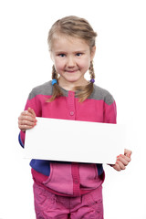 girl with empty horizontal blank
