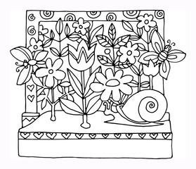 Garden - spring, hand drawn illustration