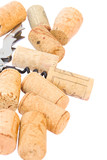 Corkscrew with wine corks