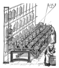 Factory Scene : Textile Industry - 19th century