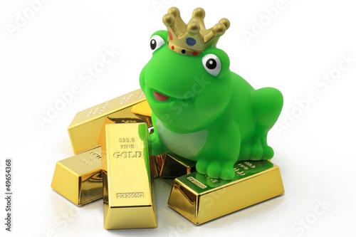 frosch auf gold