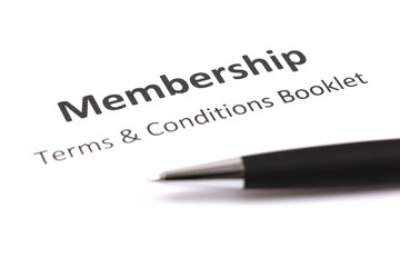 membership with pen