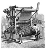 Making Velvet - Machine - 19th century