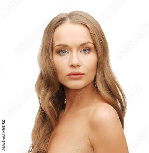 beautiful woman with long hair