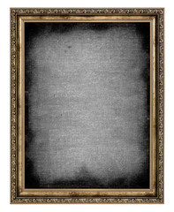 golden frame with empty canvas
