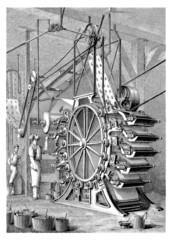 Printing Wallpaper Machine - 19th century