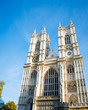 Westminster Abbey on bright summer day