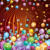 Funky Musical Background. Vector Image