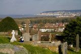 View of Uphill and Weston-super-mare Somerset