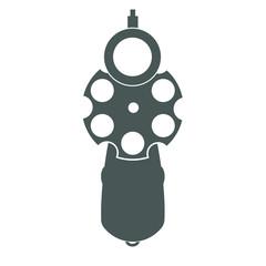 Retro gun front view
