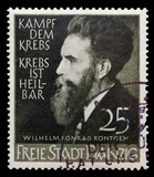 GERMANY, CIRCA 1930 - Stamp in memory of Rongten