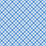Blue Gingham Fabric Background
