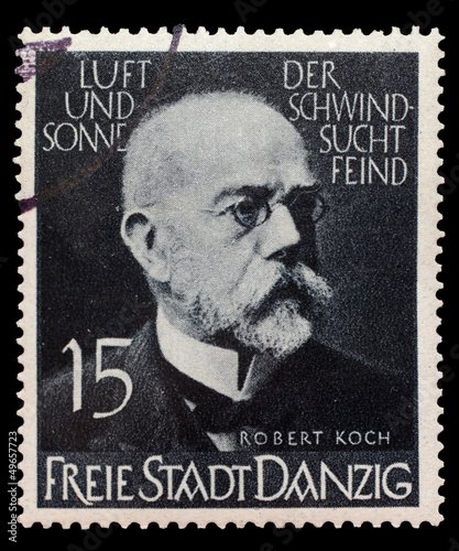 GERMANY, CIRCA 1930 - Stamp printedin memory of R.Koch