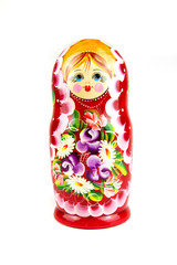 Russian doll on a white background