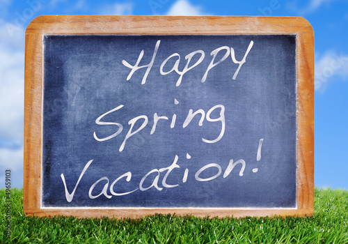 Happy spring vacation