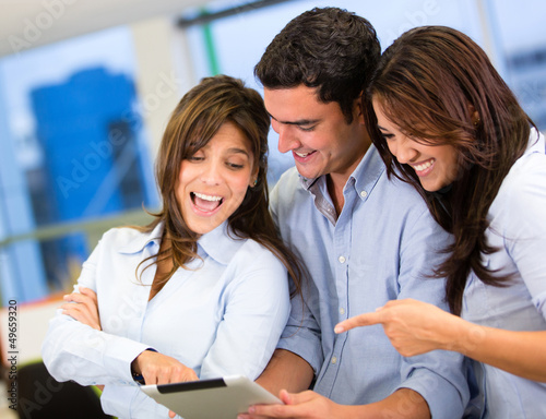 Business team with a tablet computer