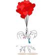 Figuren, Paar, Pärchen, Luftballons, Herzen, Liebe