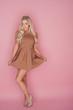 Glamorous blonde in a miniskirt