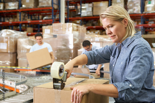 Workers In Distribution Warehouse - 49661779