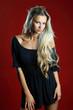 Beautiful sexy blond woman portrait