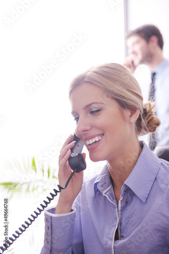 business woman talk by phone