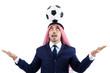 Arab businessman with football