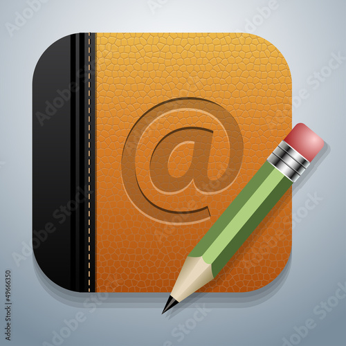 Address book with pencil