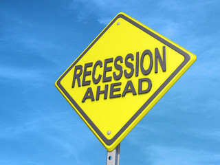 Recession Ahead Yield Sign