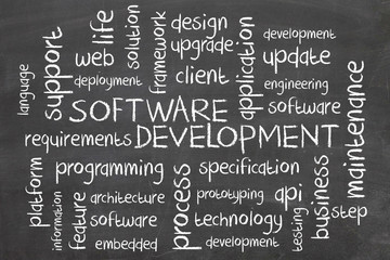 word cloud - software development