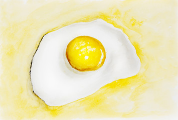 Fried egg concept