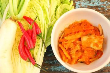 Kimchi - cabbage chili radish