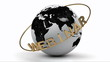 Webinar on a gold ring rotates around the earth