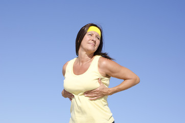 Middle aged woman breast cancer prevention