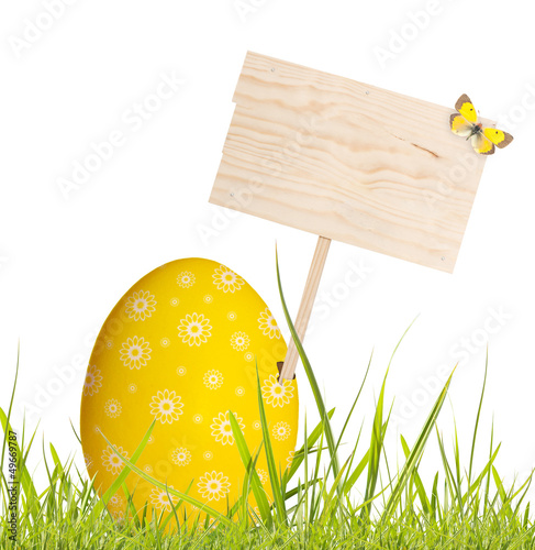 Easter egg with blank board