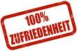 Grunge Stempel rot 100% ZUFRIEDENHEIT