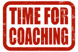 Grunge Stempel rot TIME FOR COACHING