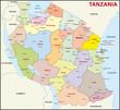 Tansania Administrativ Verwaltungsgliederung