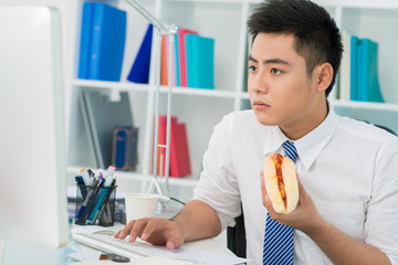 Office hot-dog