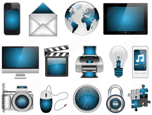 Blue Design Icon Set