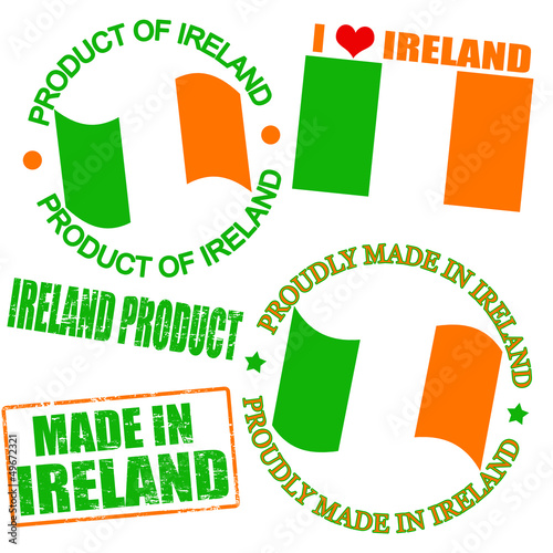 Product of Ireland stamps