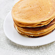 White plate with pancakes