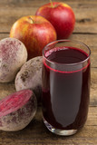 Beetroot, apples and beetroot juice